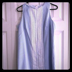 London Times stripped sleeveless dress